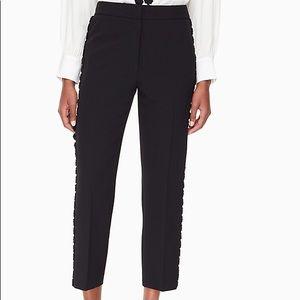 Kate spade lace trim cigarette pants size 8